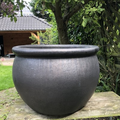 Blomstring pottery anthracite large