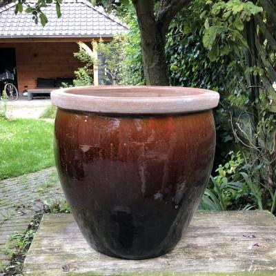 Blomstring pottery brown high medium